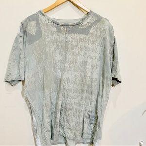 {J. STEGER} Gray Embellished Back T Shirt